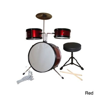 Rock Star 5 piece Kids Red Drum Set