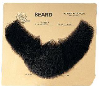 Black Human Hair Lincoln Beard Clothing