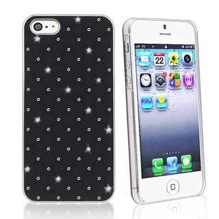 BasAcc White Lattice Diamond Snap on Case for Apple iPhone 5