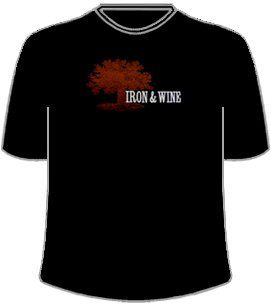 Iron & Wine, Black T Shirt Clothing
