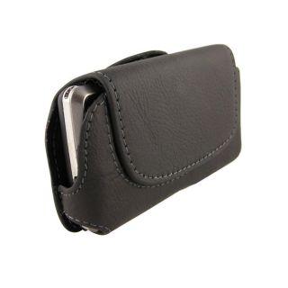 Black Horizontal Leather Case for LG Dare VX9700