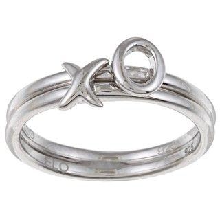 Sterling Silver XOXO Fashion Ring Set