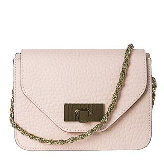 Chloe Sally Small Light Pink Textured Leather Cross body Bag