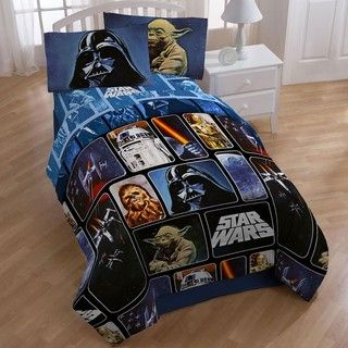 Star Wars Collage 5 piece Full size Bed in a Bag with Sheet Set