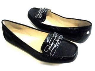 KLEIN RICKI MOCCASIN MINI SQUARE PRINT BLACK WOMENS SIZE 8 M Shoes