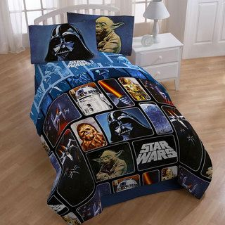 Star Wars Collage 4 piece Twin size Bed in a Bag with Sheet Set