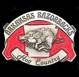Arkansas Razorbacks Pewter Belt Buckle Sports & Outdoors
