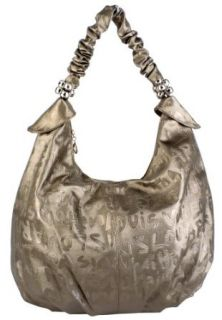 Designer Inspired Copper Graffiti Slouchy Oversized Hobo