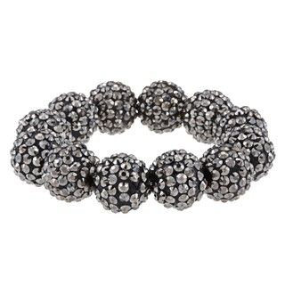 Morgan Ashleigh Gunmetal Metallic Bead Stretch Bracelet