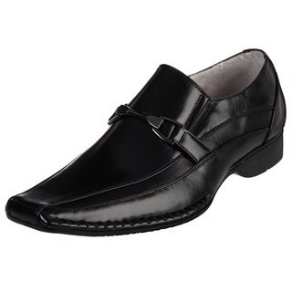 Madden Mens Rigger Black Leather Slip on Loafers