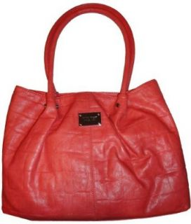 Womens Nine West Purse Handbag Hammered Coral Clothing