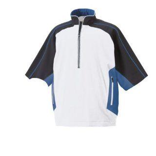 FootJoy Short Sleeve Rain Shirt White/Black/Royal Medium