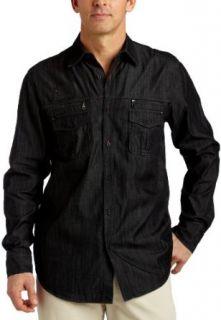 Howe Mens True Indulgence Denim Shirt in Fade to Black