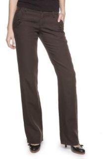 Hugo Boss Orange Linen Pants SYDNEY D, Color Brown, Size