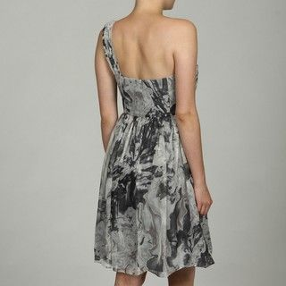 OC by Oleg Cassini Womens Beaded Metallic Chiffon Dress