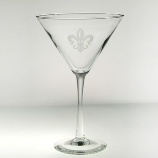 Rolf Glass Grand Fleur De Lis Martini 10 ounces (Set of 4)