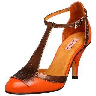 Samanta Womens Q Pump,Burnt Orange,5.5 M US Shoes
