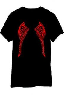 LED Sound Activated Red Tribal Tattoo Wings T Shirt
