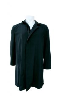 Armani Mens Banded Collar Car Coat US Size 40