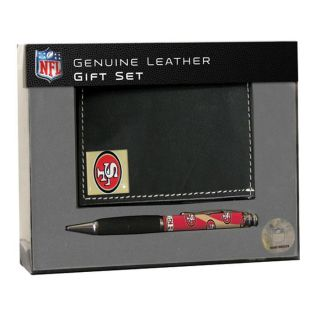 San Francisco 49ers Tri fold Wallet and Pen Gift Set
