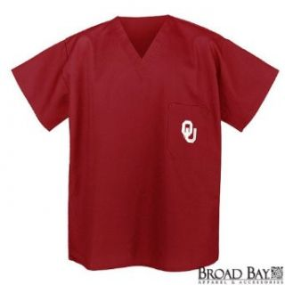 University of Oklahoma Scrubs Top Shirt  OU Logo For HIM