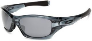 Oakley Mens Pit Bull Sunglasses,Crystal Black Frame/Black