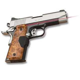 Crimson Trace 1911 Government/ Commando Pro Custom Burl Wood Laser