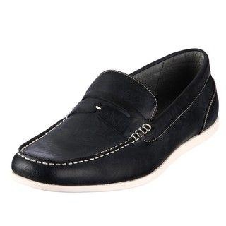 Steve Madden Mens Guest Black Penny Loafers