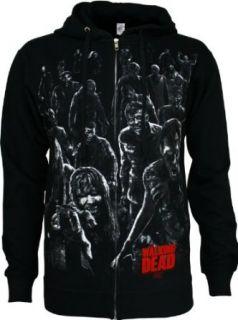 The Walking Dead Walkers Attack Mens Zip Hoodie Clothing