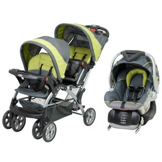Baby Trend Sit N Stand Double Stroller Travel System in Carbon