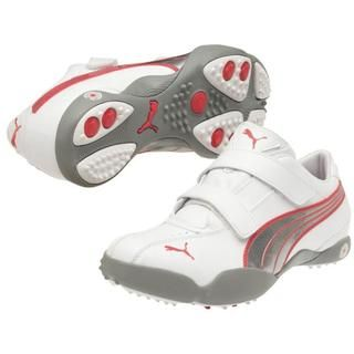 Womens White / Red / Silver Puma Tallula Alt Golf Shoes
