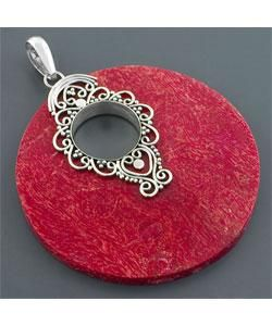 Red Sea Coral Round Pendant (Indonesia)