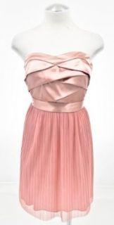 BCX Pink Satin Strapless Dress Clothing