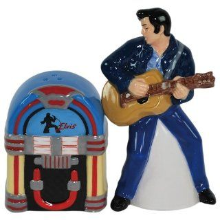 Elvis Presley Blue Suede Shoes Salt and Pepper Shaker Set