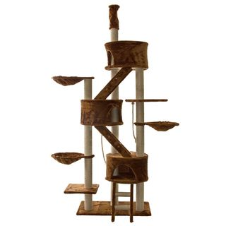 Go Pet Club Brown 92 106 Inches High Huge Cat Tree Furniture