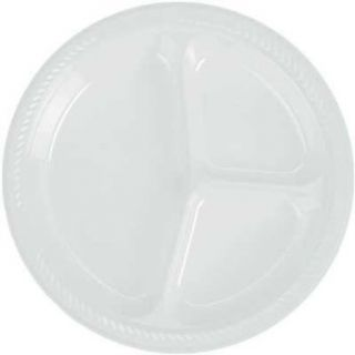 White Divided Dinner Plates (20 count) Clothing