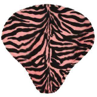 DVN Pink Zebra Faux Fur Saddle Cover.