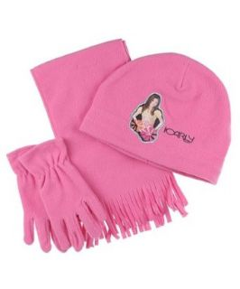 I Carly Girls Fleece Winter Scarf Mittens Hat 3 Pc 6 10