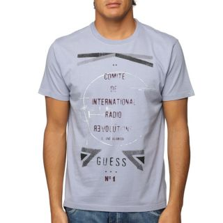 GUESS T Shirt Homme Bleu gris   Achat / Vente T SHIRT GUESS T Shirt