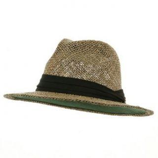 Big Safari 100% Natural Straw Summer Hat   Black Band