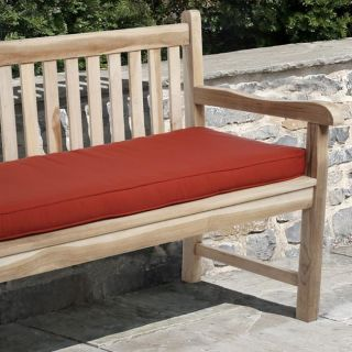Clara 48 inch Outdoor Red Bench Cushion Made with Sunbrella Fabric
