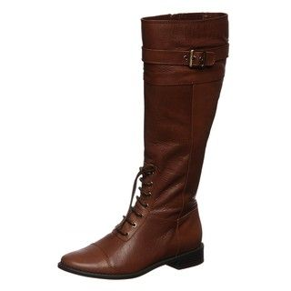 Anne Klein Womens Caryn Lace up Riding Boots