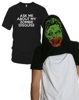 Ask Me About my Zombie Disguise t shirt funny zombie face