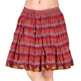 Designer Cotton Indian Skirt Womens India Clothing (Maroon