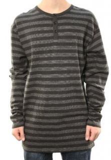 Billabong Mens Black w/Gray Thin Stripes Sweater