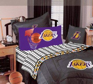 Los Angeles Lakers Black Denim Twin Size Comforter and