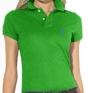 Polo Ralph Lauren Womens Mesh Skinny Polo Shirt M