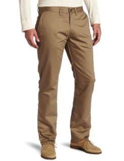 Rusty Mens Straighty Chino Worker Pant, Khaki, 34