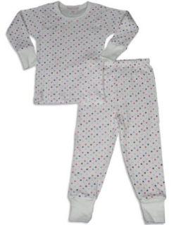 Baby Steps   Girls Long Sleeve Polka Dot Pajama Set, White