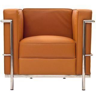 Le Corbusier LC2 Genuine Tan Leather Armchair